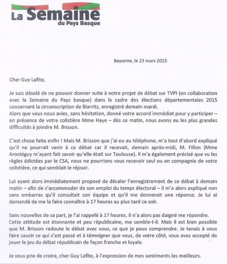 Courrier Ségot lafitte