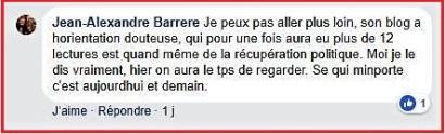 Commentaire JA Barrère
