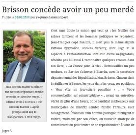 Brisson concède avoir merdé